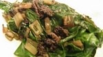 finished chard and morels
